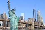 Brooklyn Bridge and The Statue of Liberty - 65945334