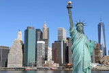 Manhattan and The Statue of Liberty, New York City - 65945380