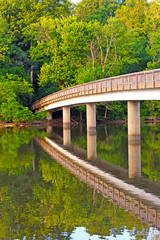 Footbridge to the Theodore Roosevelt Island in Washington DC