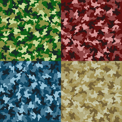 Four camouflage textures