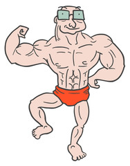 Muscle old man