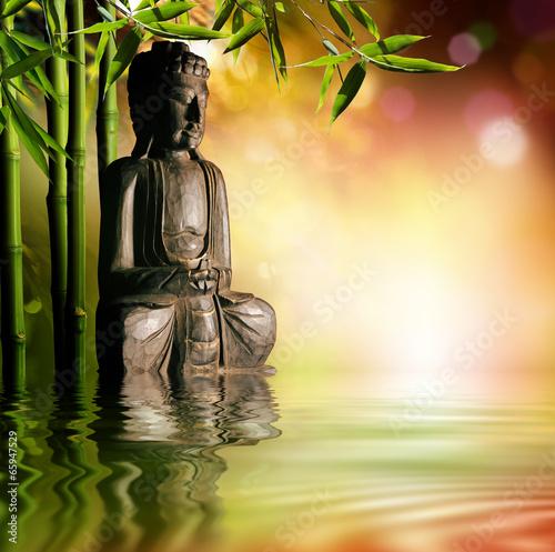 Zdjęcia na płótnie, fototapety, obrazy : spiritual background of Asian culture with buddha