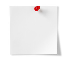 Post-it Note , Isolated on white with clipping path