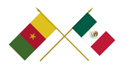 Flags, Mexico and Cameroon