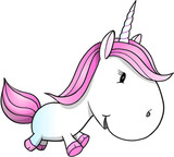 Cute Unicorn Pony Vector Illustration Art