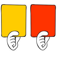 イエローカードとレッドカード