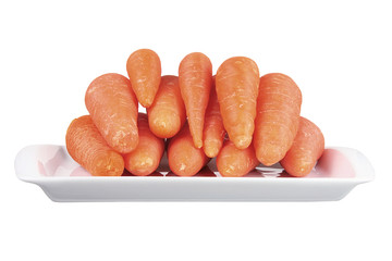 Young Carrots on Dish
