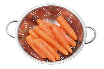 Carrots in Colander