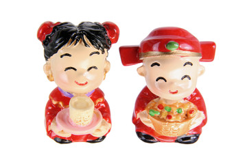 Chinese Wedding Couple Figurine