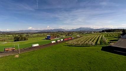 Luftaufnahme Güterzug SBB