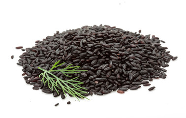 Black rice heap