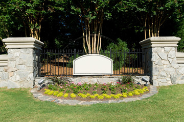 Attractive subdivision entrance