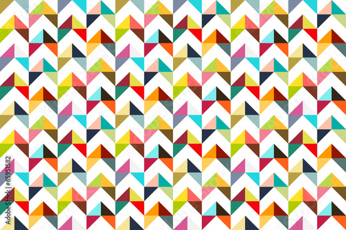 Fototapeta Seamless colorful triangle pattern