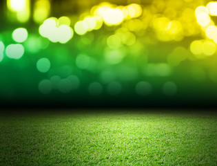 Soccer field and bokeh background