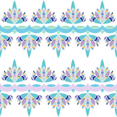 Floral stripes seamless Pattern