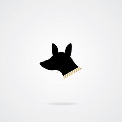 Dog icon . Vector element. Eps.10