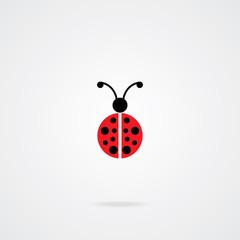 Lady Bug Icon. Eps.10