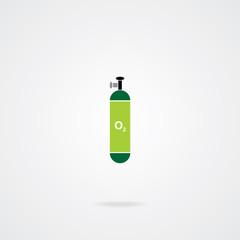 Oxygen Cylinder. Eps.10