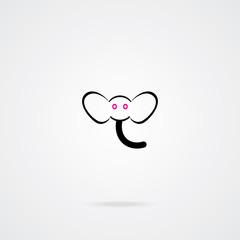 Elephant icon. EPS-10.