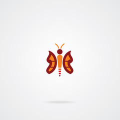 butterfly icon. EPS-10.