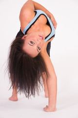 Beautiful Flexible Acrobatic Woman Arched Backwards One Arm