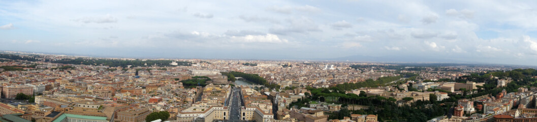 Panorama view of Rome