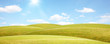 canvas print picture - Sommer Panorama Landschaft