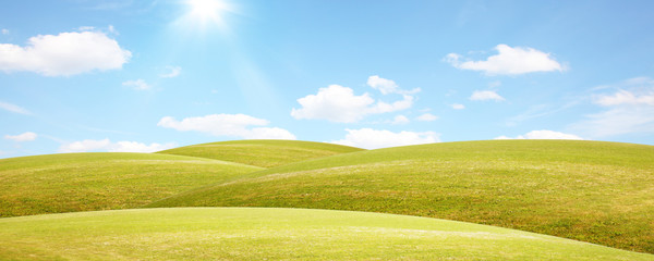 Sommer Panorama Landschaft