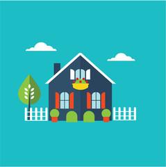 house home illustration