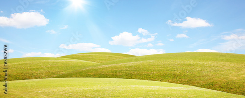 canvas print picture Sommer Panorama Landschaft