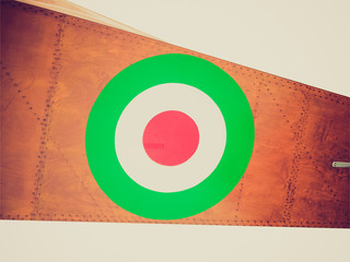 Retro look Italian air force flag