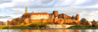 Panorama of Wawel castle in Krakow, Poland
