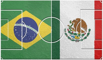 mexico vs brazil group a world cup 2014 football field textur