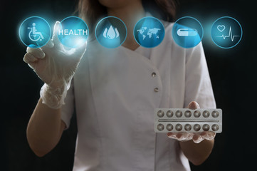 Healthcare, medical and future technology concept