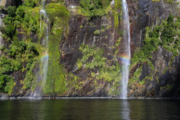 Pixie and Fairy Waterfall, Milford Sound