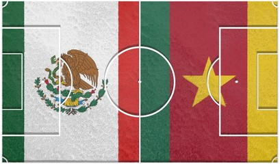 mexico vs cameroon group a world cup 2014 football field textur