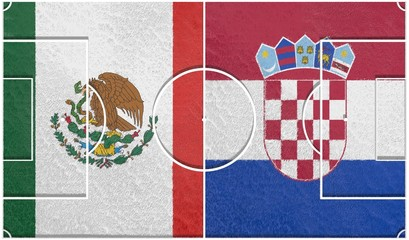 mexico vs croatia group a world cup 2014 football field textur