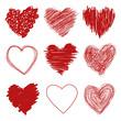 Obrazy na płótnie, fototapety, zdjęcia, fotoobrazy drukowane : Hand Drawn Hearts