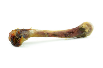 Chicken bone with shallow depth of field