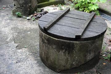 フタ付きの井戸
