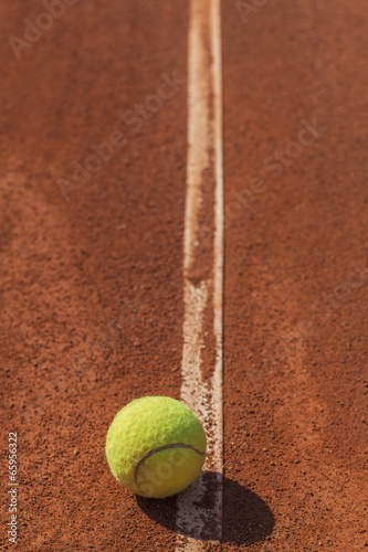 tennis ball on the line Poster