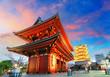 Leinwanddruck Bild - Tokyo - Sensoji-ji, Temple in Asakusa, Japan