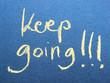 motivational message keep going