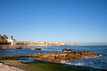 Pier and Coastline of Estoril in Portugal