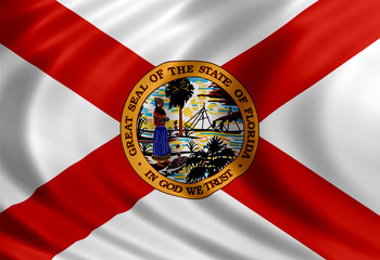 Florida flag of silk
