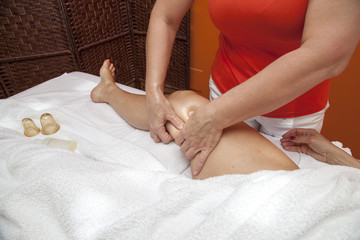 Anti cellulite massage with Ventuza vacuum body puller