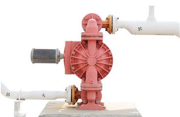 isolated white background.pump Factory equipment