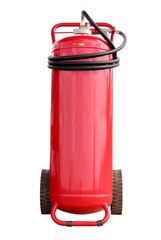 Isolated white background. Fire extinguisher