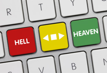 Heaven versus Hell. Keyboard