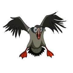 cartoon bird terrible attacks